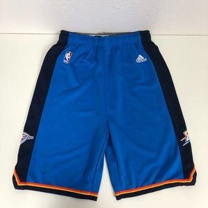 Adidas Okc Thunder NBA Basketball Shorts Youth XL